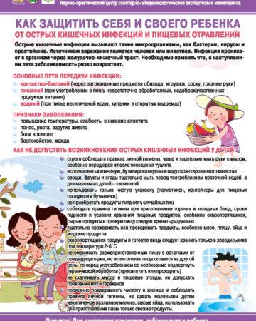 Как защитить себя и своего ребенка от острых кишечных инфекций и пишевых отравлений